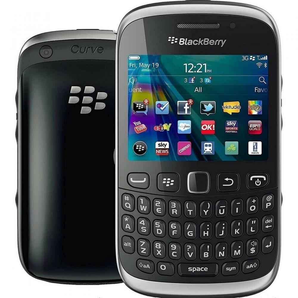 Blackberry Curve 9320 Black, 512MB Storage, O2 Locked, Refurbished Phones