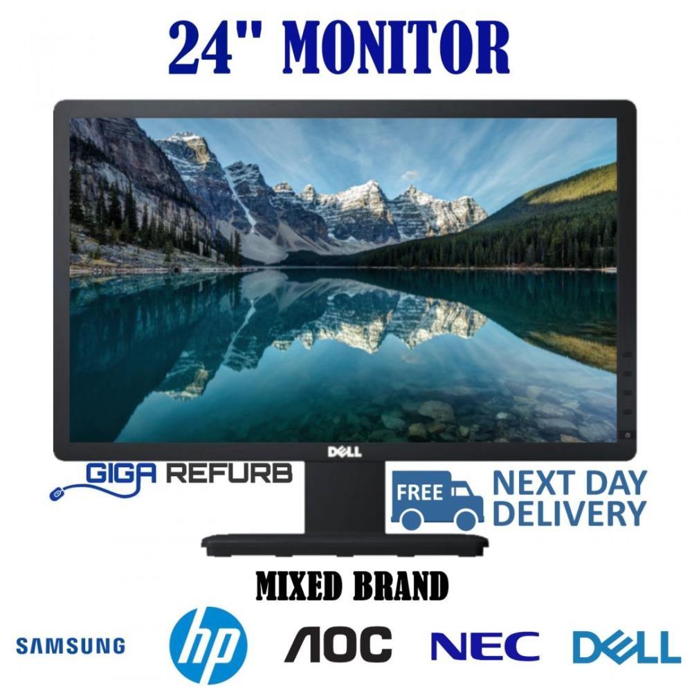 """Cheap 24"""" LCD TFT PC Movie Gaming CCTV VGA Monitor"""