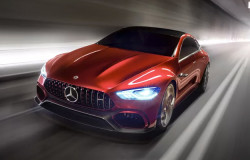Mercedes-AMG GT Concept Hybrid Sedan Dazzles With 805HP And Curvy Good Looks