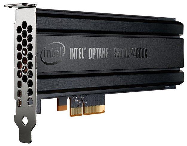 intel optane SSD dc p4800x drive front