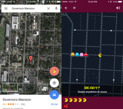 Google's Early April Fool's Prank Transports Ms. Pac-Man To Google Maps