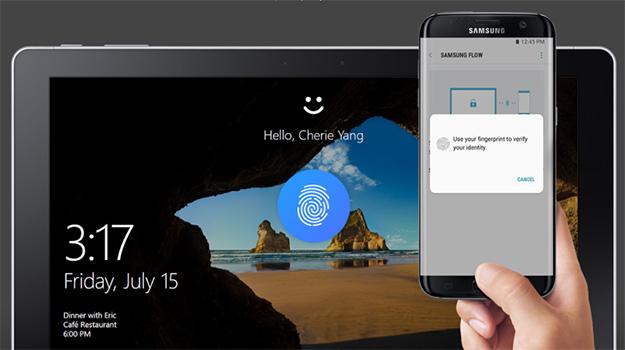 Samsung Flow and Windows Hello