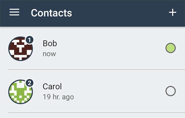 briar sample contact list