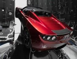 Elon Musk Flaunts Pics Of Mars-Bound Tesla Roadster Aboard SpaceX Falcon Heavy Rocket