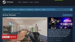 School shooting game Active Shooter pulled by Steam