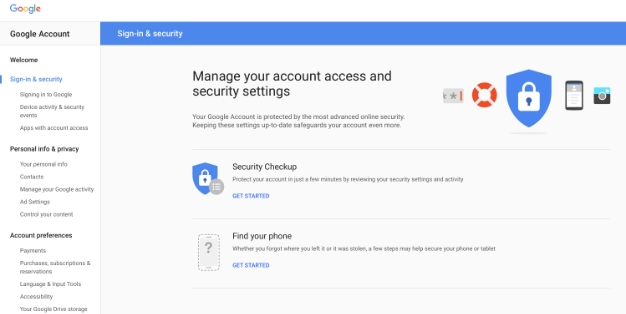 google apps with account access