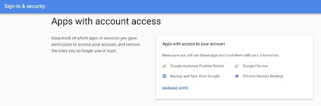 google apps with account access 2