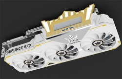 Galax GeForce RTX 2080 Ti Hall of Fame Is Excessively Blinged-Out With Gold Trimmings