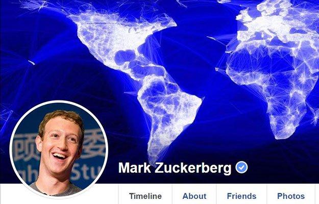 zuckerberg facebook page