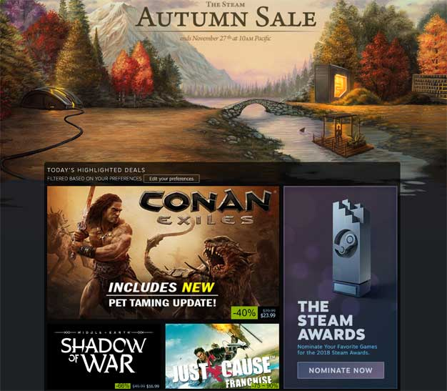 autumn sale steam