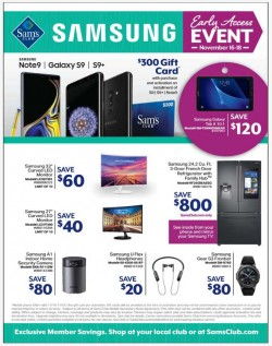 Sam's Club Samsung Early Access Event Is Live With Big Savings On Phones, TVs, Tablets And More