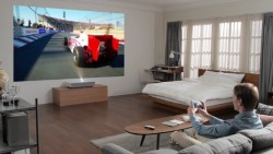 LG's CineBeam 4K Projector Needs Just 2 Inches Of Space To Display 90-inch Image