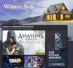 Steam's Winter Sale Kicks Off With Discounts On Over 15,000 Games