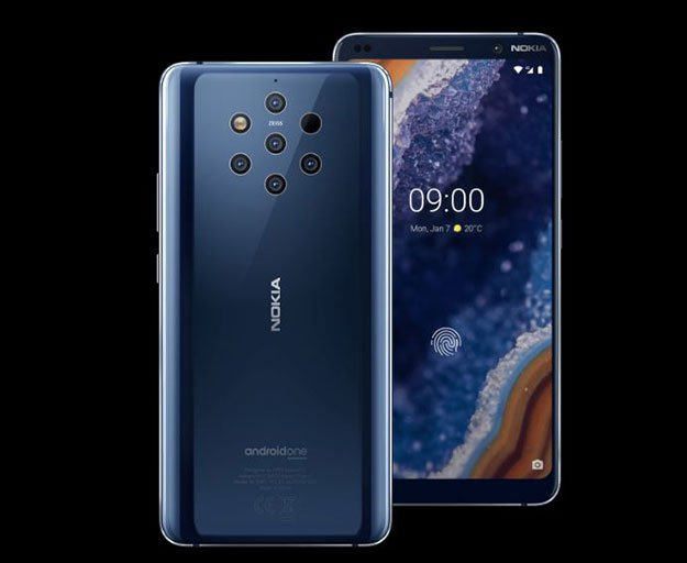 nokia 9 pureview front and back