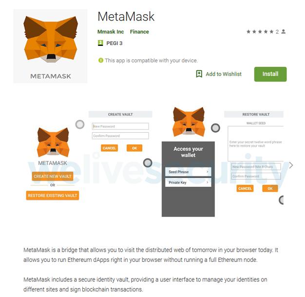 metamask appstore listing eset