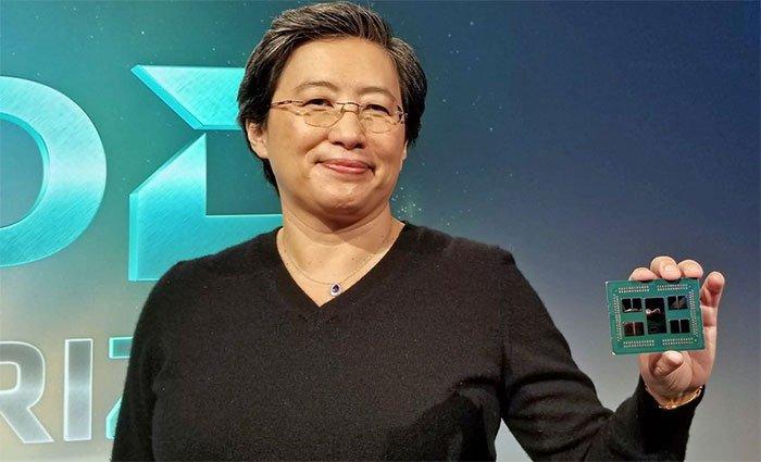 AMD CEO Dr. Lisa Su with EPYC