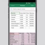 Watch Microsoft Excel Mobile Take Pictures Of Data Tables And Import Them