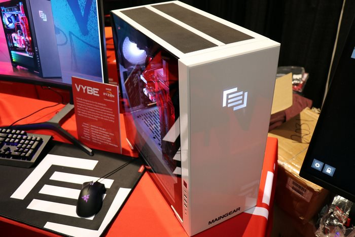 Maingear Vybe gaming pc with diy top
