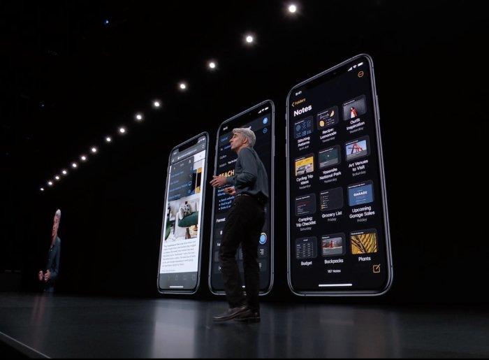 apple ios 13 dark mode
