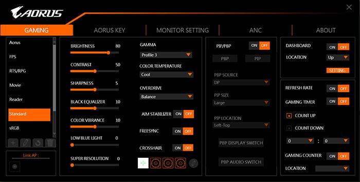 Gigabyte AORUS Monitor Software