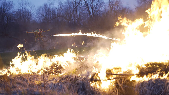 Drone Flamethrower