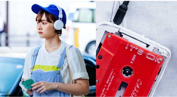 bt cassete player red