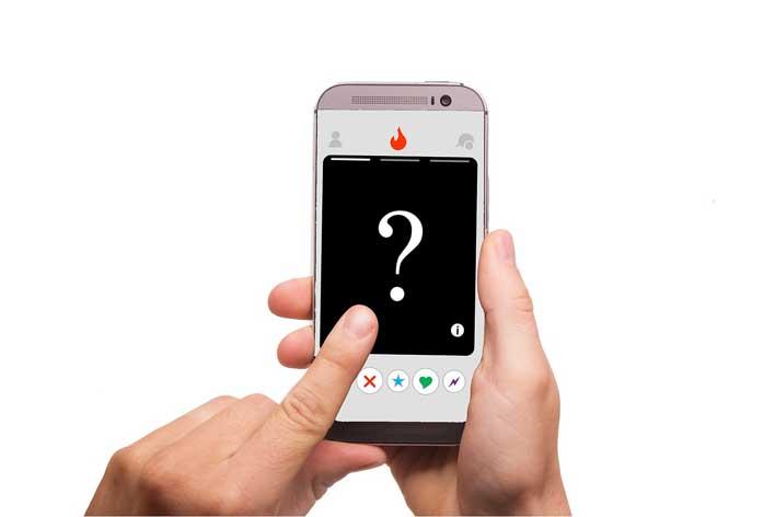 tinder app=finger