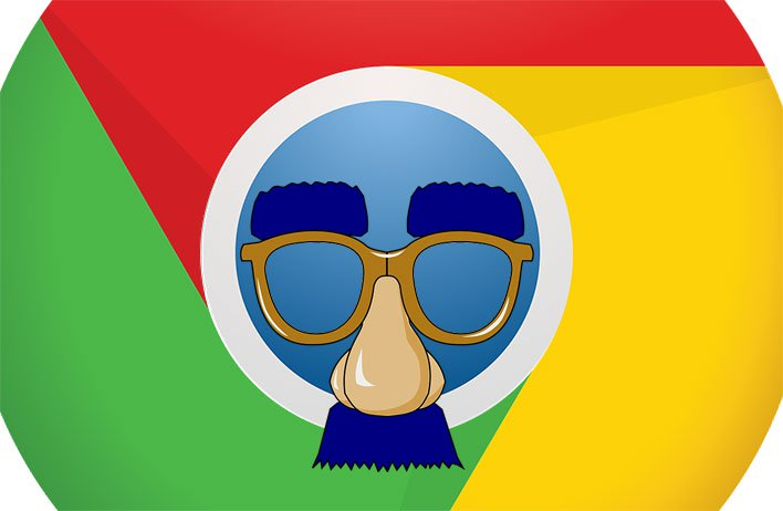 Google Chrome with Nose and Glasses