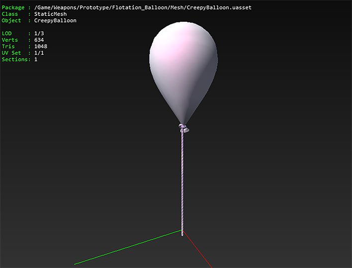 fortnite data mining creepy balloon