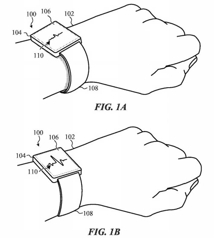 apple watch smart bands patent tight