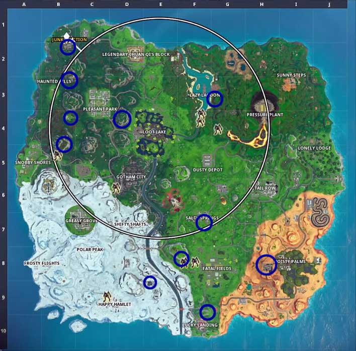 bat signal locations