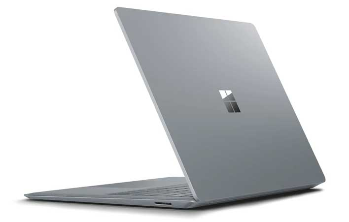 surface laptop 2 back