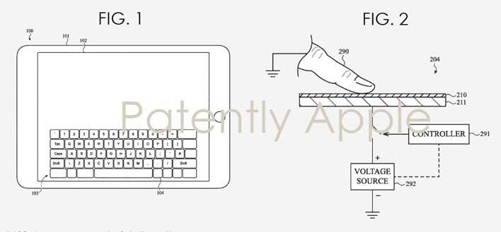 apple patent haptic