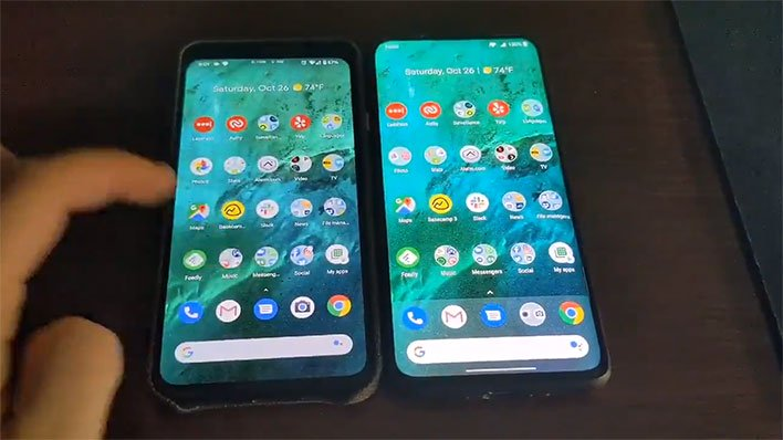 Pixel 4 XL and OnePlus 7 Pro