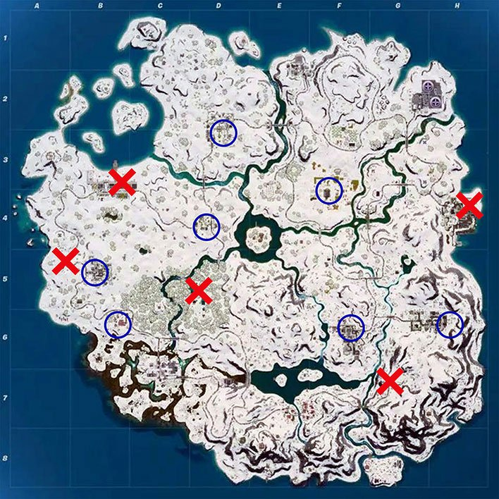 Fornite Winterfest Map