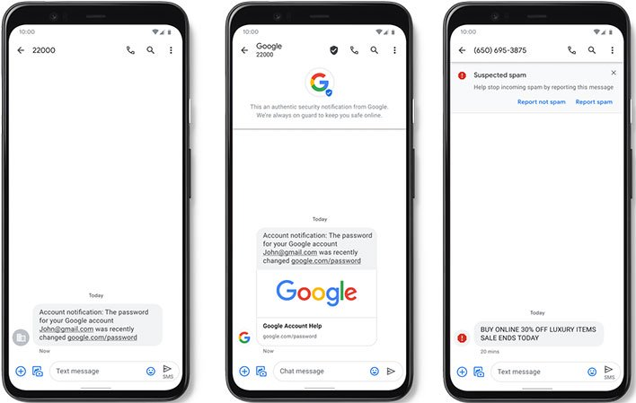 Google Verified SMS for Android
