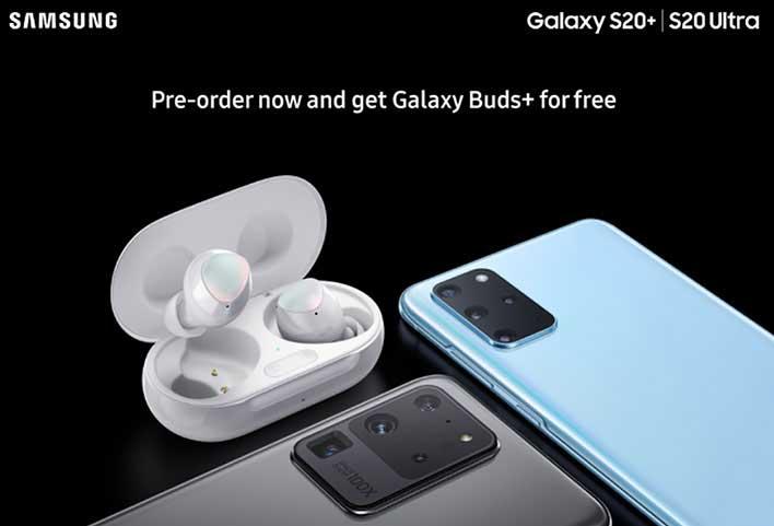 galaxy s20 free buds