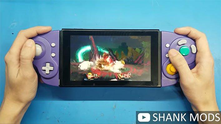 shank mods gamecube switch joycons