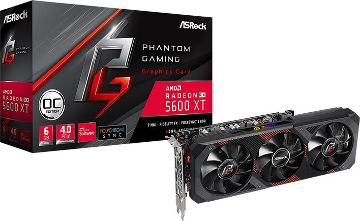 ASRock Phantom Gaming Radeon RX 5600 XT OC Edition