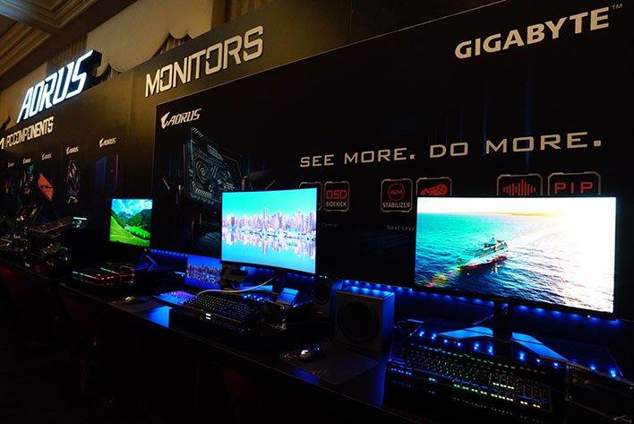 Gigabyte Aorus Gaming Monitors at CES 2020