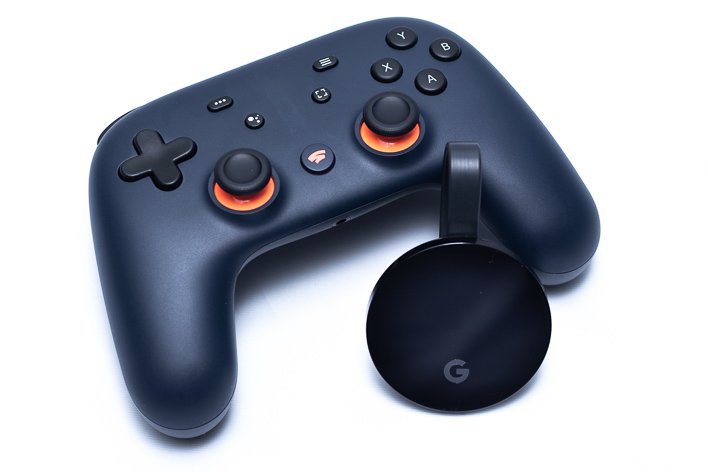 google stadia with chromecast ultra lean