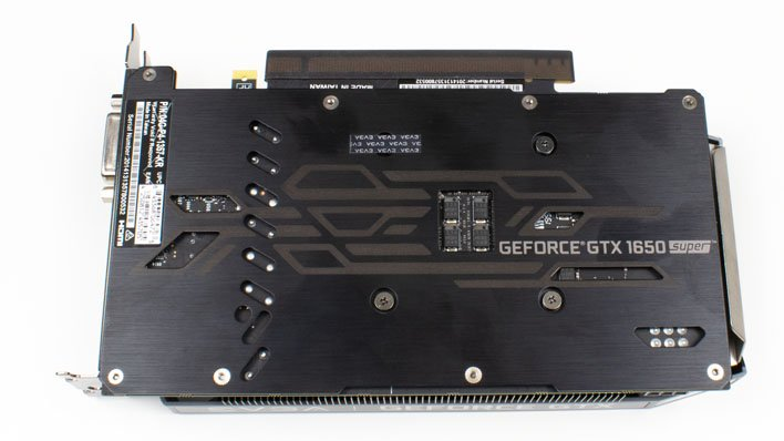 evga geforce gtx 1650 super sc ultra backplate