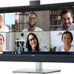 Dell's New Video Conferencing Monitors Have A Microsoft Teams Button